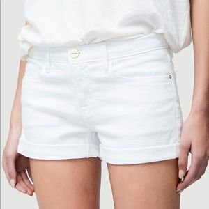 Frame Le Cut Off Cuffed Short Blanc